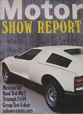 Motor magazine 25/10/1969 featuring Triumph 2.5 PI MkII road test