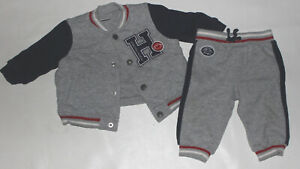 Infant Boys GYMBOREE Gray 2 Piece Athletic Outfit Size 6-12 Months