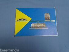HAMO Tramways Catalogue 1961 HO  F. Hannemann Nürnberg