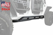 Black Rock Crawler Side Slider Armor Rocker Guards 4 Jeep Wrangler JK 4Dr 07-17
