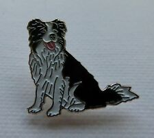 Metal Enamel Pin Badge Brooch Collie Dog Border Collie Herding Sheep Dog