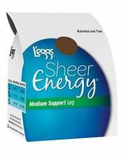L'eggs Pantyhose 6-Pack Silky Sheer Energy Reinforced Toe Hosiery Medium Support