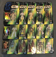 "STAR WARS POTF 1996 Collection 2 Figures 3.75"" - Luke, Jawas, Ackbar - LOT of 14"