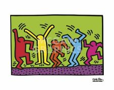 "HARING, KEITH - UNTITLED, 1987 (DANCE) - ART PRINT POSTER 11"" X 14"" (2696)"