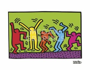 """HARING, KEITH - UNTITLED, 1987 (DANCE) - ART PRINT POSTER 11"""" X 14"""" (2696)"""