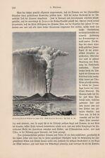 Pinienwolke des Vesuvs m Hahre 1822 Vesuvio Vesuv HOLZSTICH von 1895