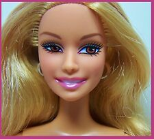 Nude Barbie Honey Blonde Hair Pink Highlights Brown Eyes Belly Button Body CLEAN