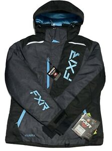 NEW SNOWBOARDING FXR WOMENS PULSE JACKET GREY/SKY BLUE 210227-0753-10 NWT