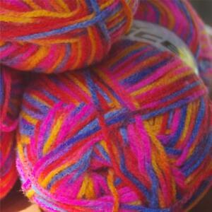 ACRYLIC Knitting YARN, self striping,  4 mm Needles, 800 grams