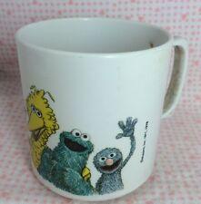 Vintage Sesame Street Mug Cup 1978 Plastic Dishwasher Safe Big Bird Grover Oscar