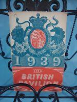 Antique Book 1939 New York World's Fair British Pavilion Directory 1939