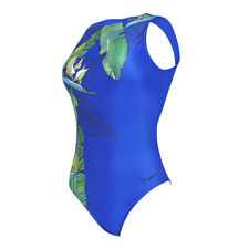 Zoggs Machina Aquaback Swimming Costume Size 8 14 RRP £38 Clockwork Swimsuit