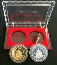 BEIJING 2006 CANDIDATE CITY SILVER & GOLD MEDAL SET NEW BEIJING GREAT OLYMPICS