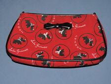 Lulu Guinness London Red Scottie Dog Scottish Terrier Clutch Purse Sm Handbag