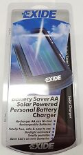 EXIDE SOLAR POWERED  AA  PERSONAL BATTERY CHARGER