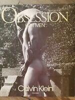 1991 Calvin Klein Obsession cologne for men vintage fragrance ad