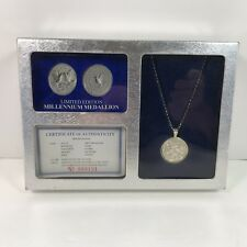 """2000 Limited Edition Millennium Medallion .925 Pure Sterling Silver - 22"""" Chain"""