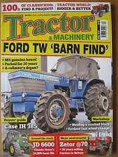 Tractor & Machinery April 2016 John Deere 6600 Zetor Ford TW-25 Case IH 385 JCB