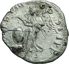 SEPTIMIUS SEVERUS 200AD Rome Authentic Ancient Silver Roman Coin VICTORY i66405