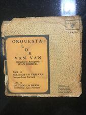 """Cuban 45 rpm LOS VAN VAN """"Solo soy un Van Van"""" & """"De todo lo mejor"""" /Areito 6579"""