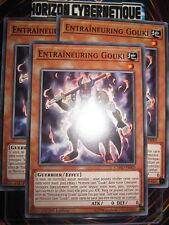 YU-GI-OH! COM PLAYSET ENTRAÎNEURING GOUKI (LOT DE 3) CYHO-FR005 NEUF EDITION 1