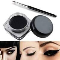 Black Waterproof Eyeliner Stamp Gel Cream with Brush Eye Set Makeup Liner Kit