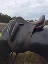 "Used 17.5"" Hervé Godignon Dressage Saddle, Medium Wide Tree"