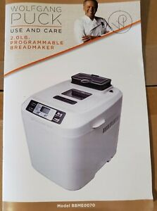 New in Box Wolfgang Puck 2.0lb Programmable Bread Machine Maker BBME0070 White