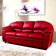 divano imbottito 3 posti in ecopelle pelle salotto di ottima qualità italy