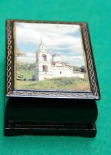 Vintage painted wooden box USSR Church Rostov