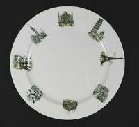 """Vtg Kaysons Ironstone Serving Plate Platter White International Cities 12-3/8"""""""