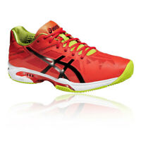Asics Mens GEL-SOLUTION SPEED 3 CLAY Tennis Shoes Red Lightweight Trainers