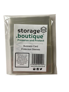 storage.boutique Business Card Protection Sleeves, Plastic Free (89 x 62 mm) 100