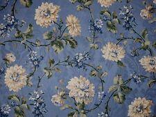 Mill Creek Floral COPEN Blue Home Decor Cotton Jacquard Drapery Sewing Fabric