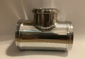 """SRE 2.5"""" ALUMINUM TURBO BLOW OFF VALVE """"STUBBY"""" ADAPTER PIPE TIAL 50MM 2MM THICK"""