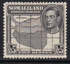 Album Treasures Somaliland Scott # 95  5r  George VI  Map  Mint Hinged
