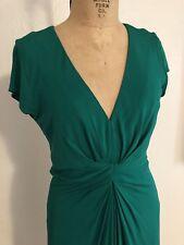 Flattering Emerald Green Rayon Jersey BANANA REPUBLIC Issa London Dress 10 NWT