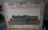 VINTAGE MOUNTED PHOTOGRAPH - HIGHLAND RAILWAY- CLAN CHATTAN LOCOMOTIVE TRAIN