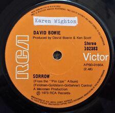 DAVID BOWIE - SORROW B/W AMSTERDAM - OZ RCA LABEL 45 - 1973