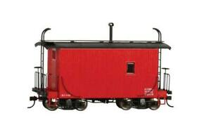 Bachmann - 18' Wood Logging Caboose - Ready to Run -- Data Only (red) - On30
