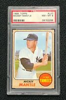New York Yankees Mickey Mantle 1968 Topps #280 PSA 8 Near Mint-Mint