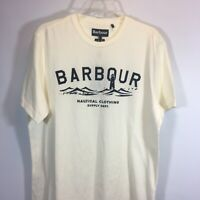 Barbour Tee Shirt LARGE Bressay Nautical Mens Large