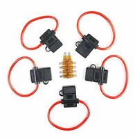 5 Pack 8Gauge Inline ATC Fuse Holder+10AMP Fuse With Cover New Car Truck Install