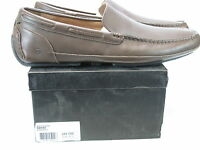 ANDREW MARC Men's EMPIRE Brown Leather Loafers US 13 D NEW IN BOX