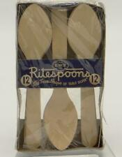 NOS Package 12 Wooden Ritespoons Original Box Teaspoon No. 1401