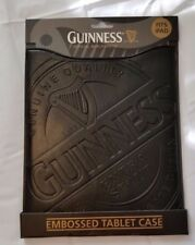 OFFICIAL GUINNESS LABEL BLACK EMBOSSED LEATHER TABLET I-PAD CASE COVER