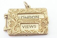 Unusual and rare vinage london views 9ct yellow gold charm fully hallmarked
