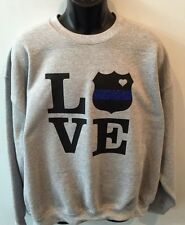 Police Wife Sweatshirt New Police Shield Love Police