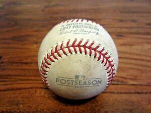 Yankees vs Astros ALCS GM 4 Game Used Baseball 10/17/2017 Aaron Judge Home Run
