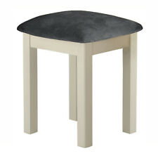 Padstow Cream Painted Stool / Dressing Table Stool / Solid Wood With Seat Pad